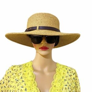 Nine West Straw Boater Hat